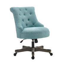 Sinclair Office Chair Gray Wash Wood Bas