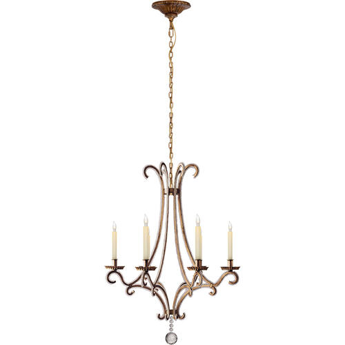 Visual Comfort - E. F. Chapman Oslo 6 Light 23 inch Gilded Iron Chandelier Ceiling Light