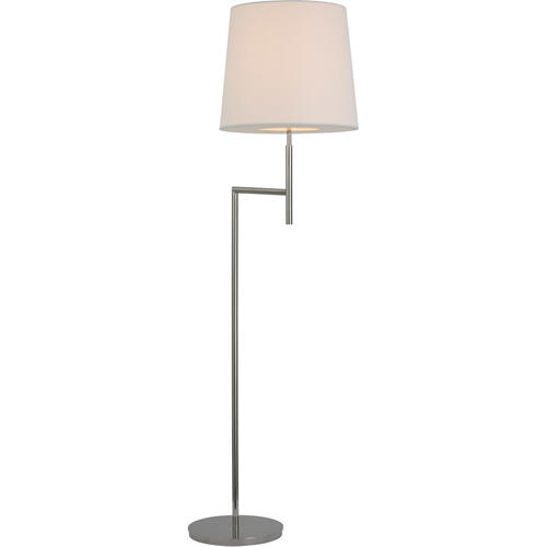 Barbara Barry Clarion 59 inch 15.00 watt Polished Nickel Bridge Arm Floor Lamp Portable Light