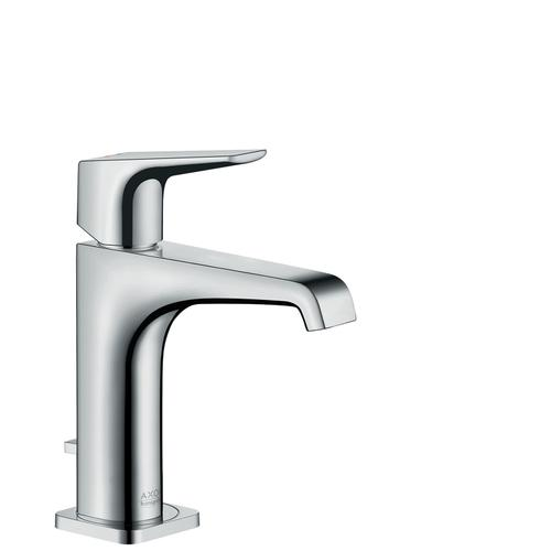 Chrome Single lever basin mixer 130 with lever handle and pop-up waste set