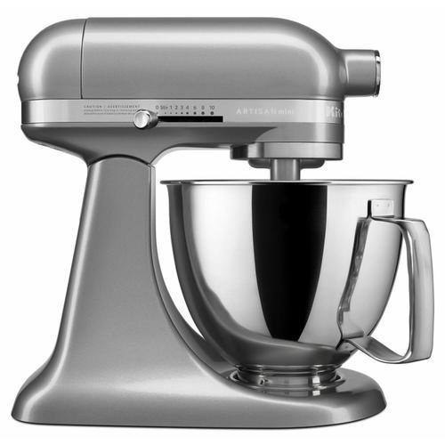 KitchenAid - Artisan® Mini 3.5 Quart Tilt-Head Stand Mixer - Contour Silver