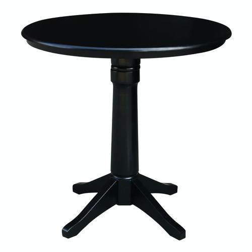 "36"" Pedestal Table in Black"