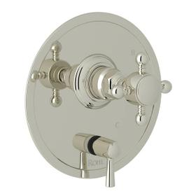 Pressure Balance Trim with Diverter - Polished Nickel with Cross Handle