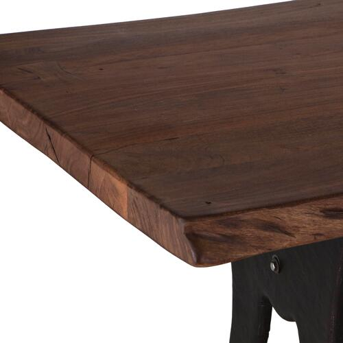 "Organic Forge 80"" Dining Table Raw Walnut"