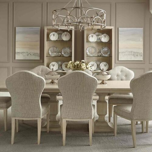 Gallery - East Hampton Rectangular Dining Table in Cerused Linen (395)