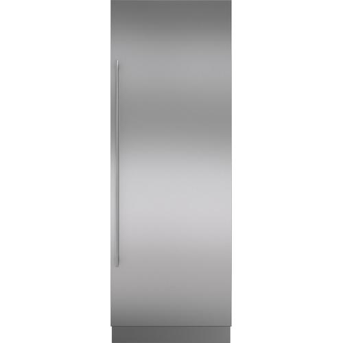 "Stainless Steel Door Panel with Tubular Handle 6"" Toe Kick - RH"