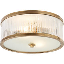 Alexa Hampton Randolph 2 Light 14 inch Hand-Rubbed Antique Brass Flush Mount Ceiling Light