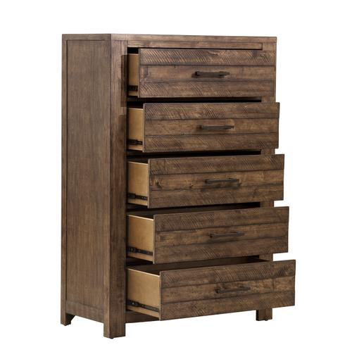 Product Image - S290-040  Chest with Five Drawers and Distressed Finish - Dakota