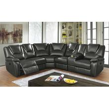 See Details - Belmont Sectional (with Power Recliner Sofa), Charcoal Gray