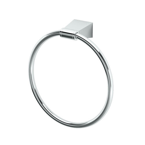 Bleu Towel Ring in Chrome
