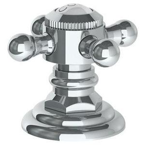 """Trim for Deck Mounted Valve. Porcelain Cross and Lever Buttons Engraved """"cold"""""""