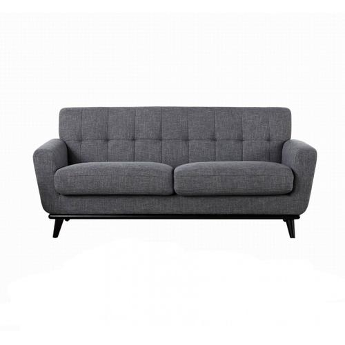 Divani Casa Corsair Modern Grey Fabric Sofa