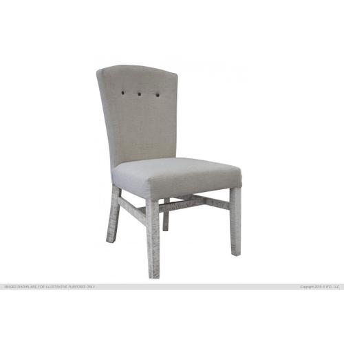 Uph. Chair w/ Handle on Back Rest Ivory finish