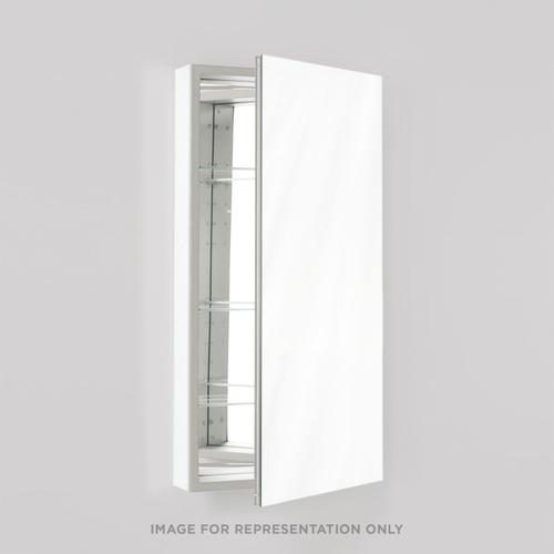 """Pl Series 23-1/4"""" X 39-3/8"""" X 4"""" Flat Top Cabinet With Polished Edge, Non-handed (reversible), White Interior and Non-electric"""