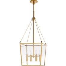 View Product - Barbara Barry Cochere 4 Light 15 inch Soft Brass Lantern Pendant Ceiling Light, Medium