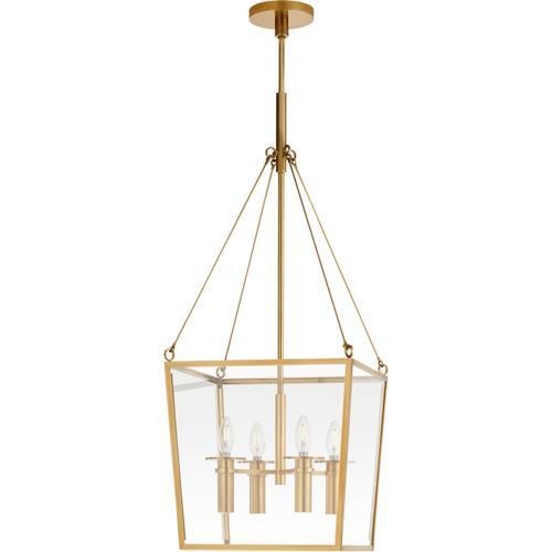 Visual Comfort - Barbara Barry Cochere 4 Light 15 inch Soft Brass Lantern Pendant Ceiling Light, Medium