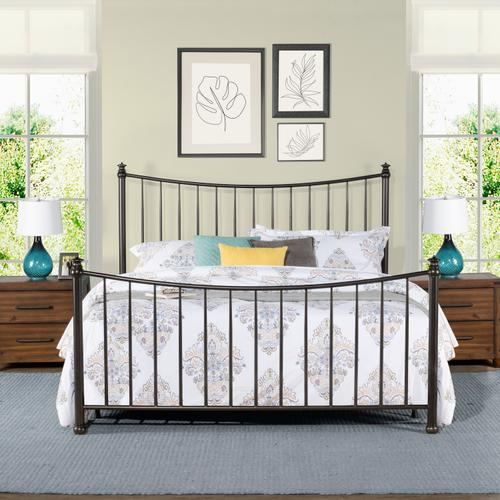 Sloan King Size Headboard and Footboard, Black Pewter