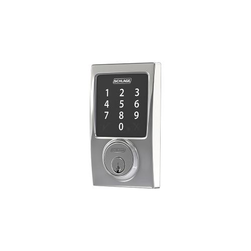 Schlage Connect Smart Deadbolt with Century Trim, Zigbee certified - Bright Chrome