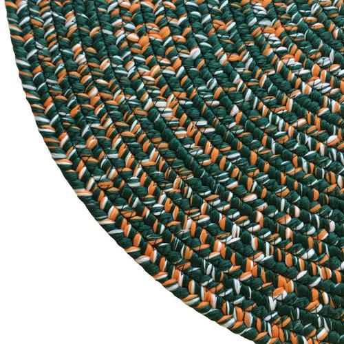 Team Spirit Green Orange Braided Rugs