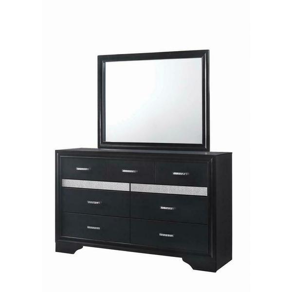 See Details - Miranda Transitional Black Seven-drawer Nightstand