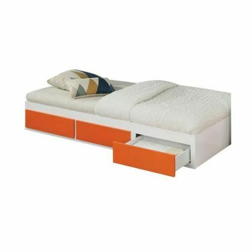 ACME Lawson Trundle & Drawers (Twin) - 37465 - White & Orange
