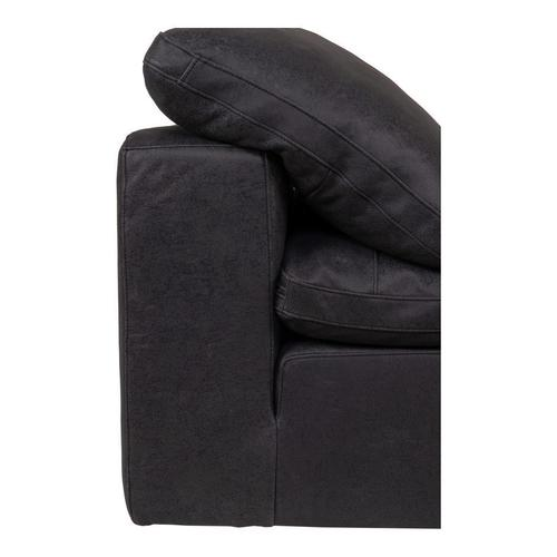 Moe's Home Collection - Clay Corner Chair Nubuck Leather Black
