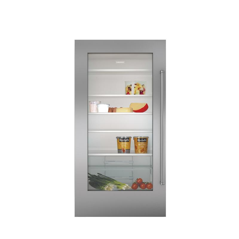 Stainless Steel Dual Flush Inset Door Panel with Pro Handle - RH