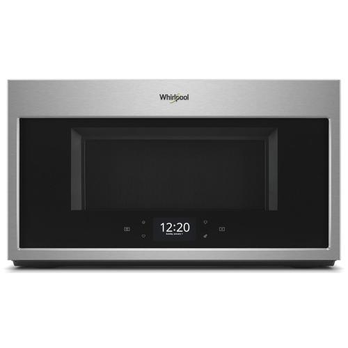 Whirlpool - 1.9 cu. ft. Smart Over-the-Range Microwave with Scan-to-Cook technology Fingerprint Resistant Stainless Steel