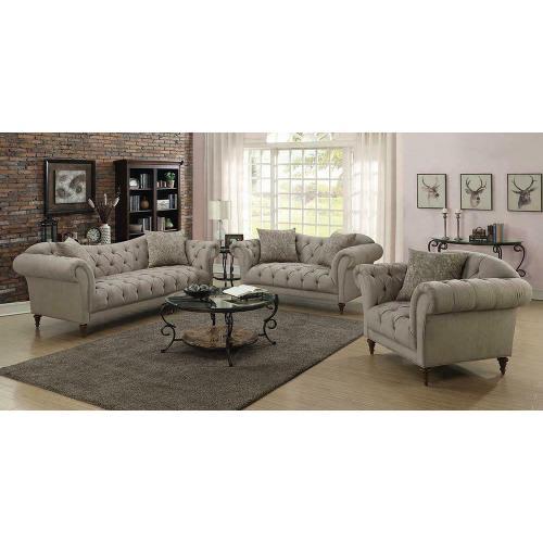 See Details - Alasdair Traditional Light Brown Sofa