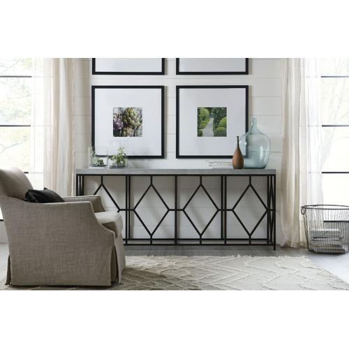 Living Room Ciao Bella Metal and Faux Concrete Console Table