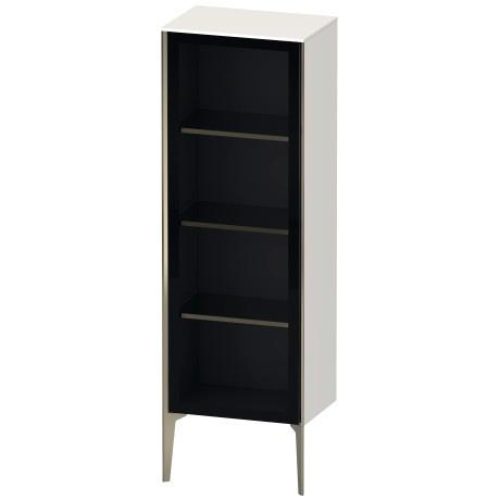 Duravit - Semi-tall Cabinet With Mirror Door Floorstanding, White High Gloss (lacquer)