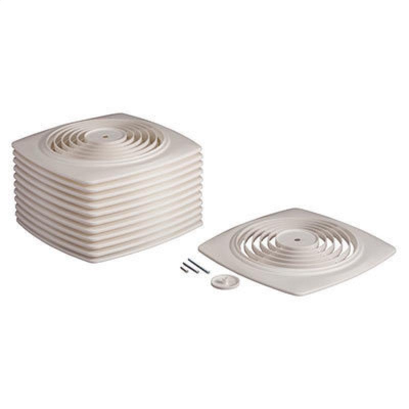 Broan® 8-Inch Utility Fan Grille/Cover w/ Knob, White