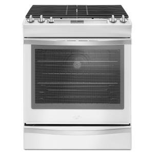 5.8 Cu. Ft. Slide-In Gas Range with EZ-2-Lift Hinged Grates White Ice -