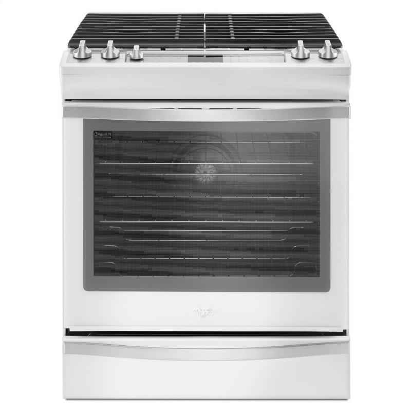 5.8 Cu. Ft. Slide-In Gas Range with EZ-2-Lift™ Hinged Grates White Ice