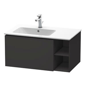 Vanity Unit Wall-mounted, Graphite Super Matte