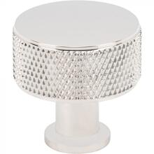 View Product - Beliza Cylinder Knurled Knob 1 Inch Polished Nickel Polished Nickel