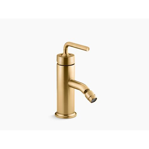 Vibrant Brushed Moderne Brass Horizontal Swivel Spray Aerator Bidet Faucet With Straight Lever Handle