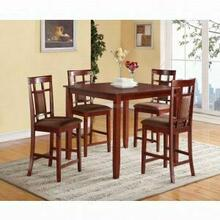 ACME Sonata 5Pc Pack Counter Height Set - 71200 - Cherry & Chocolate Microfiber