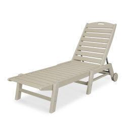 Polywood Furnishings - Nautical Chaise with Wheels in Sand