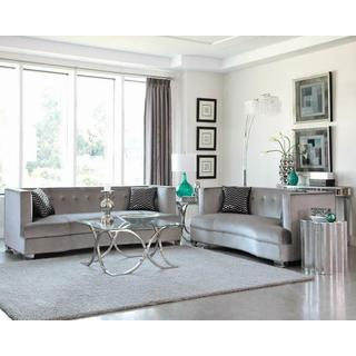 Caldwell Silver Three piece Living Room Set