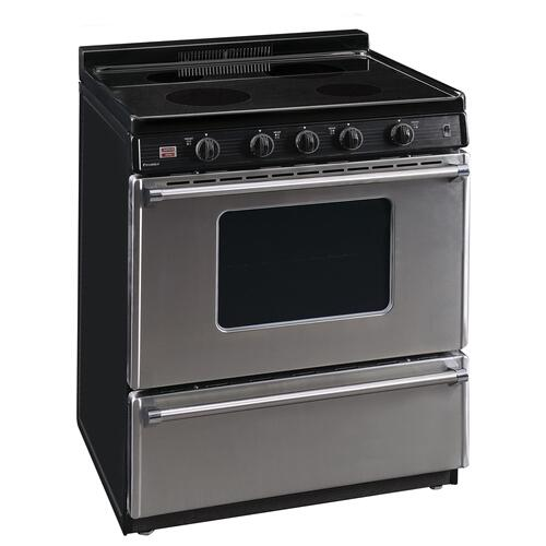 Premier - 30 in. Freestanding Smooth Top Electric Range in Stainless Steel