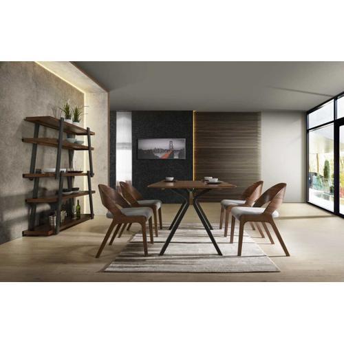 VIG Furniture - Modrest Runyon Modern Walnut & Black Dining Table