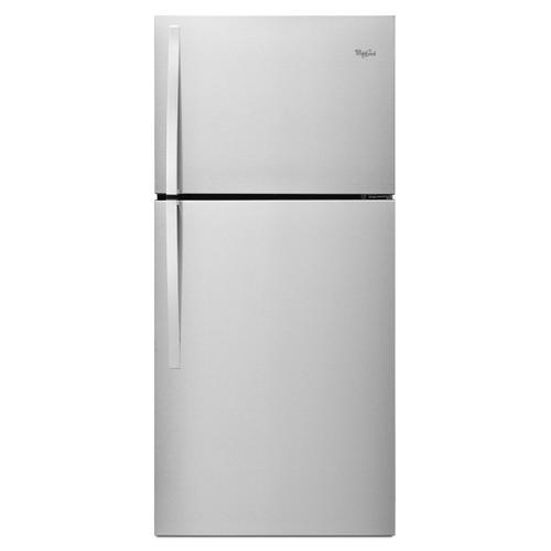 Whirlpool - 30-inch Wide Top Freezer Refrigerator - 19 cu. ft. Monochromatic Stainless Steel