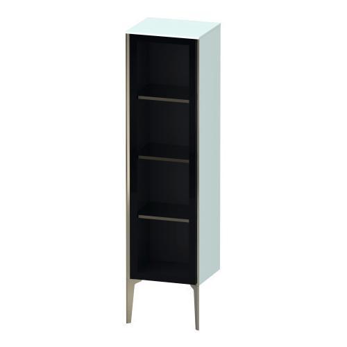 Semi-tall Cabinet With Mirror Door Floorstanding, Light Blue Matte (decor)
