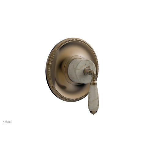 Phylrich - VALENCIA - Thermostatic Shower Trim, Beige Marble Lever Handle TH338D - Antique Brass