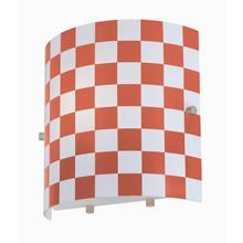 Product Image - Wall Lamp, Red Check Glass Shade, E27 Type A15 60w