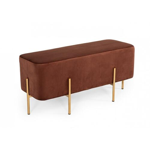 Gallery - Modrest Ranger Modern Copper Fabric Bench
