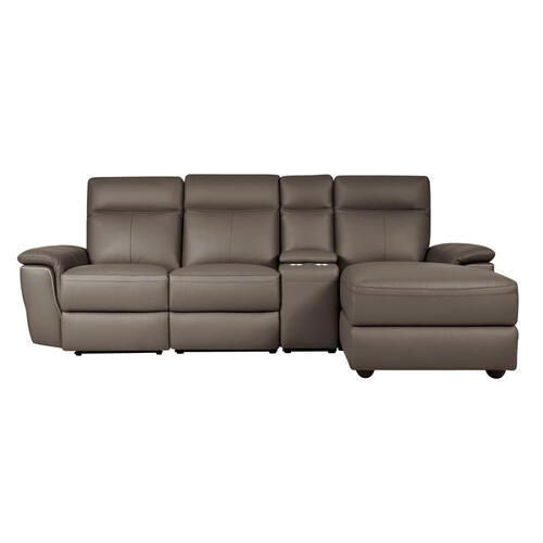4-Piece Modular Power Reclining Sectional with Right Chaise