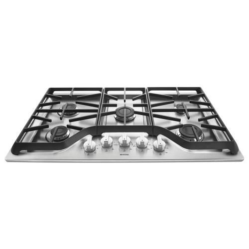 Gallery - 36-inch 5-burner Gas Cooktop with Power Burner