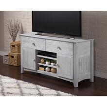 See Details - Nantucket 2 Drawer 50 inch Entertainment Console 26x50 with Adjustable Shelves in Driftwood Grey